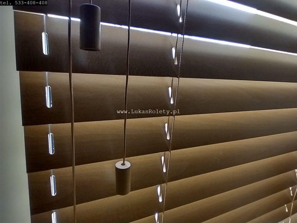 galeria Żaluzje drewniane Łódź 50mm na okno 2 drewno